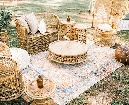 Wicker Styled Lounge