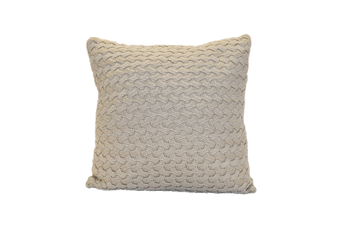Taupe Woven Pillow