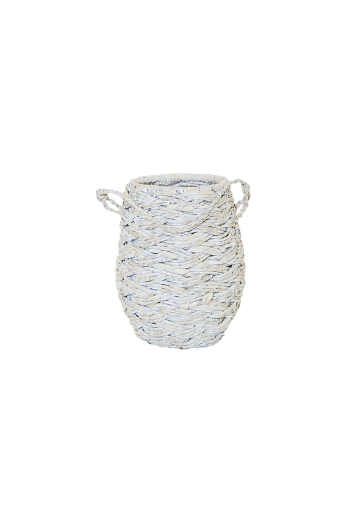 Small White Woven Basket