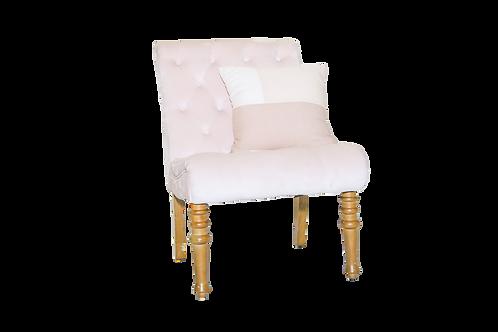 Blush Tufted Velvet Chair
