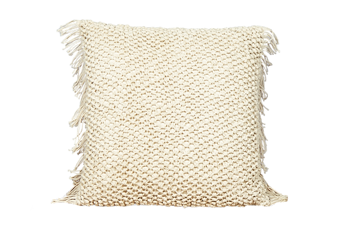 Ivory Fringed Pillow