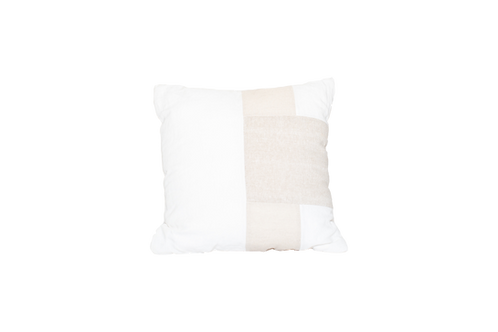 Tan/White Pillow