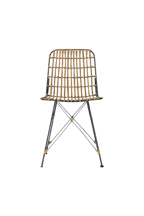 Metal & Wicker Chair