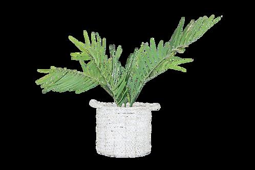 Medium White Woven Basket