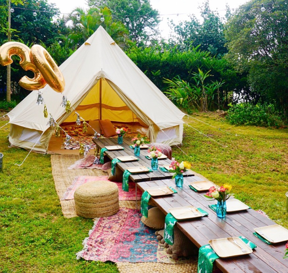 Picnic with Bell Tent