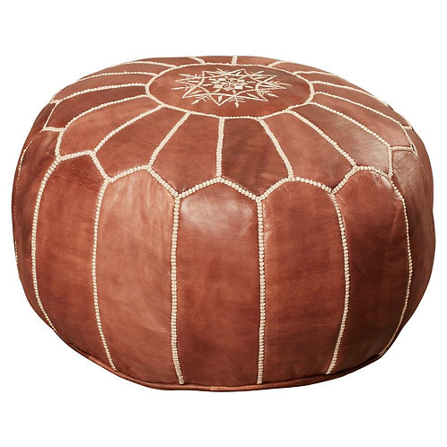 Brown Moroccan Pouf