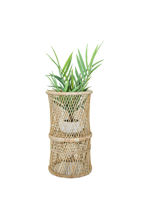 Tall Wicker Plant Stand