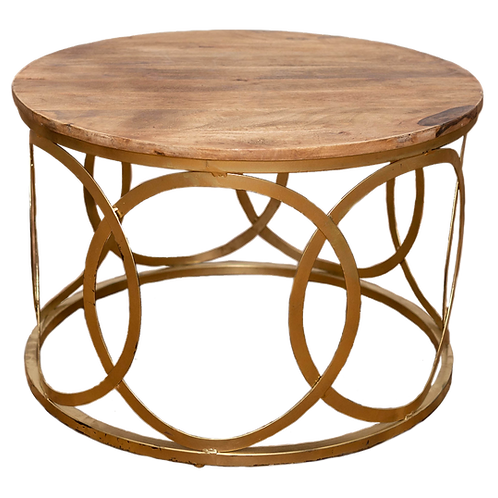 Wood Gold Coffee Table