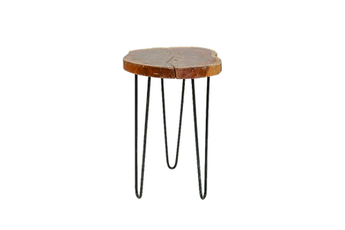 Wood Hairpin Side Table