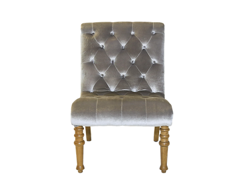 Grey Tufted Velvet Chair