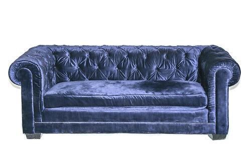 Navy Chesterfield Velvet Sofa