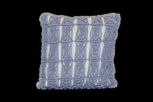 Slate Macrame Pillow