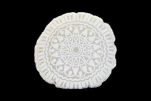 White Medallion Pillow