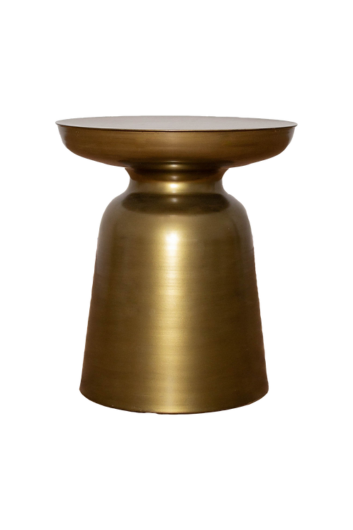 Gold Cylinder Side Table