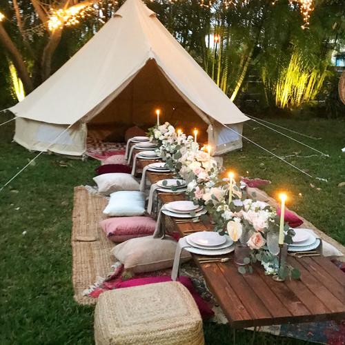 Oahu Wedding Decor Honolulu Aloha Artisans Stunning Bell Tent Decor