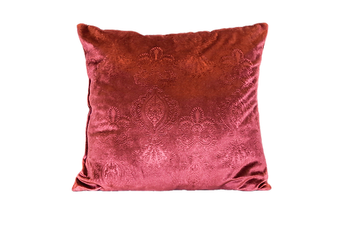 Maroon Velvet Medallion Pillow