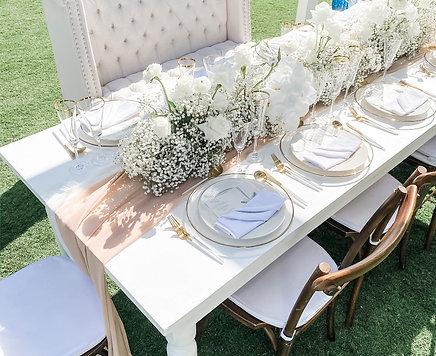 White Farm Tables