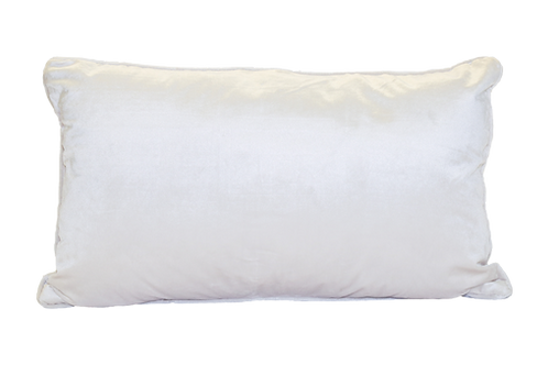 White Shimmer Lumbar Pillow