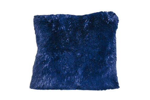 Blue Shag Pillow