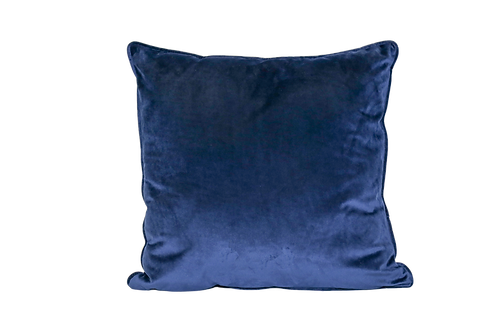 Navy Blue Velvet Pillow