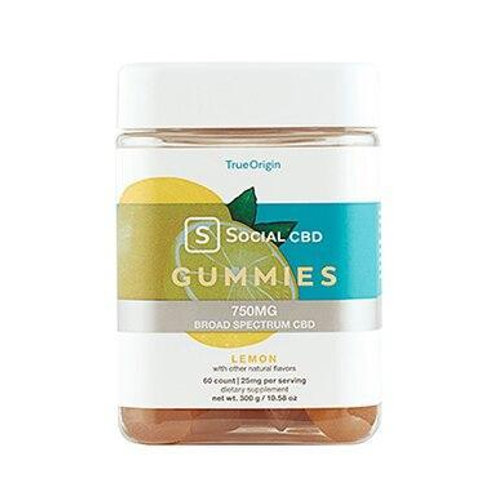 Social CBD - CBD Edible - Broad Spectrum Lemon Gummies - 12.5mg