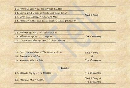 Setlist #2