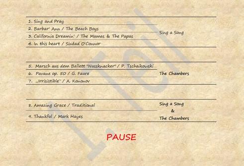 Setlist #1