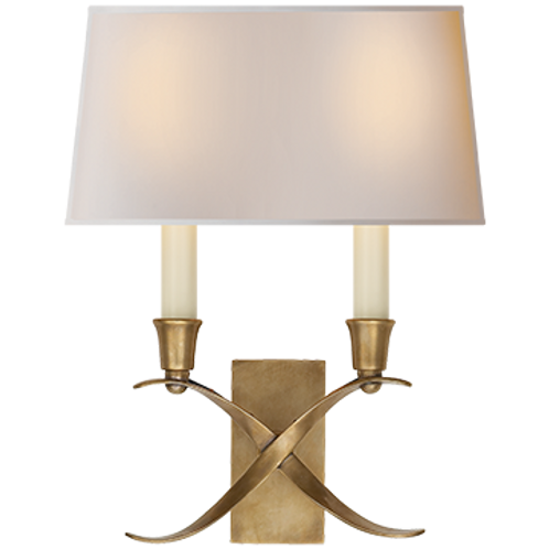 Cross Bouillotte Small Sconce by Visual Comfort