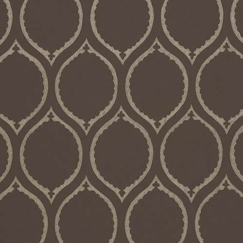 Ogee in Mole - Wallcovering by Jim Thompson
