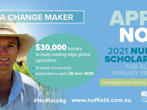 Now is the time to be a change maker: Nuffield applications are open for 2021