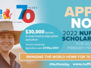 Bring global insights home: Apply now for Nuffield Scholarship