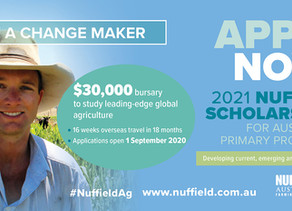 Update: 2021 Scholarships, 2020 Nuffield National Conference