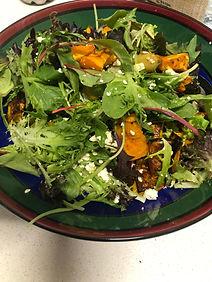 Roasted Pumpkin Salad with Creamy Avocad
