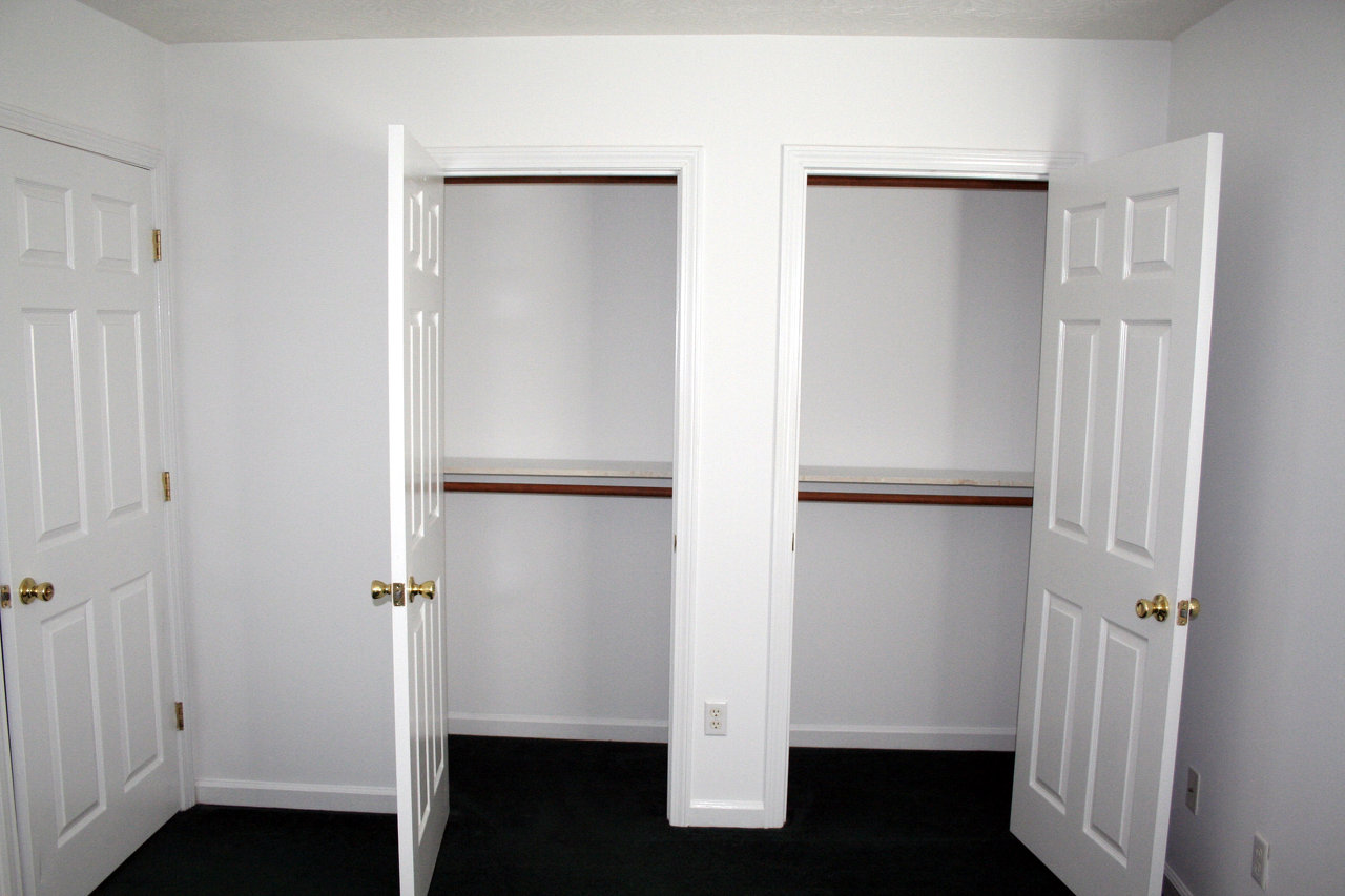 Double Closets in Master