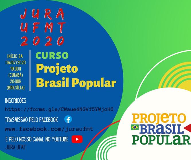 JURA UFMT lança curso online sobre o Projeto Brasil Popular