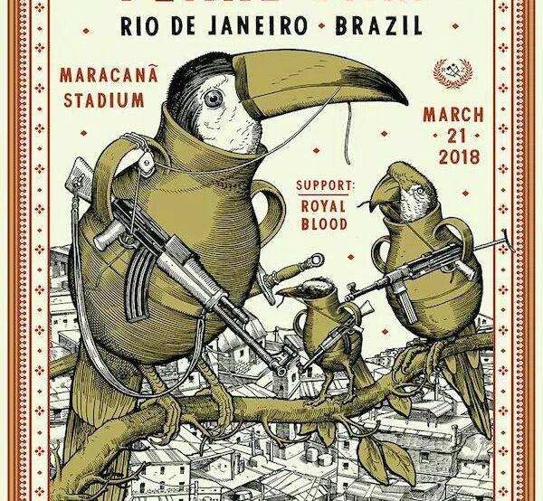 Pearl Jam põe tucano com arma em favela carioca