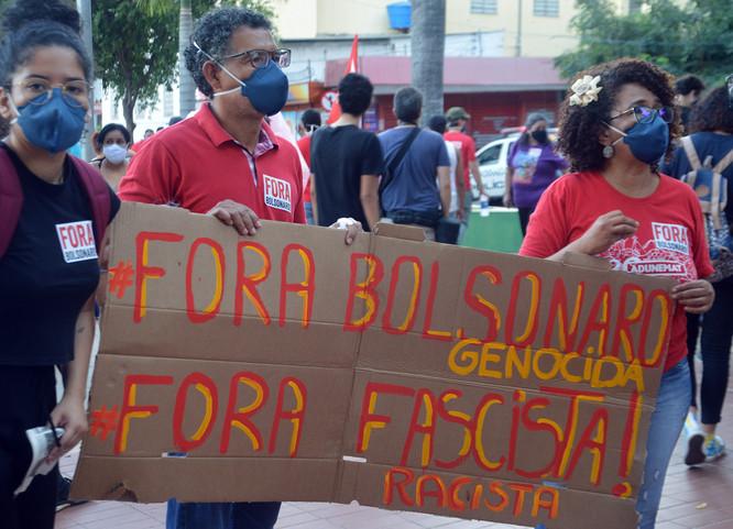 Cuiabá nas ruas contra do racismo, o fascismo e o genocídio