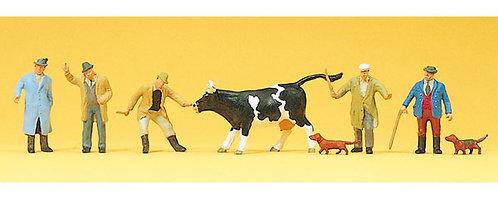Preiser 10048 Figurines, marchands à bestiaux HO