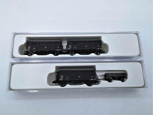 Coffret de 3 wagons couverts - Hobbytrain H 24703  échelle N