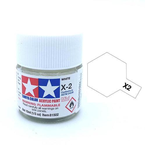 Tamiya X-2 - Blanc brillant (10ml)