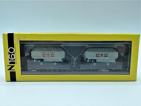 """Coffret wagons céréaliers """"C T C"""" - N160 NC24001 échelle N"""