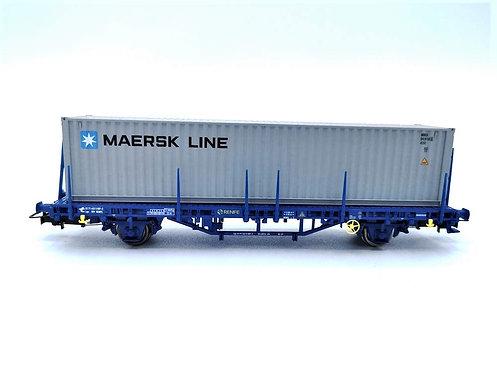"""Wagon plateau avec containeur """"MAERSK LINE""""- Electrotren  HO"""