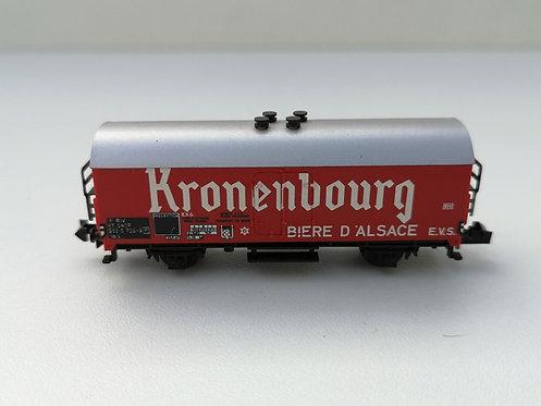 "Wagon couvert ""kronenbourg"" Minitrix 3594 échelle N"