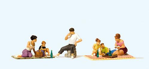 Preiser 10617 Figurines, pique-nique HO