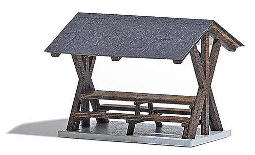 Busch 1563 - aire de repos avec toit HO