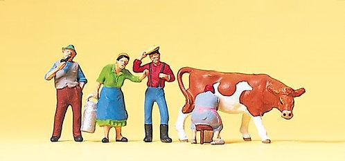 Preiser 10044 Figurines, à la ferme HO