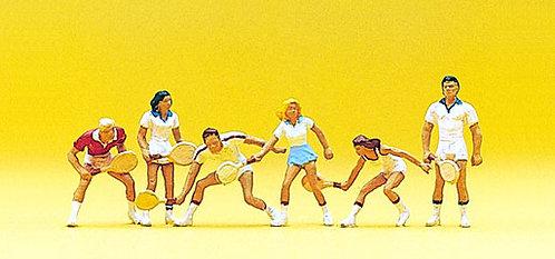 Preiser 10078 - Figurines, joueurs de tennis HO