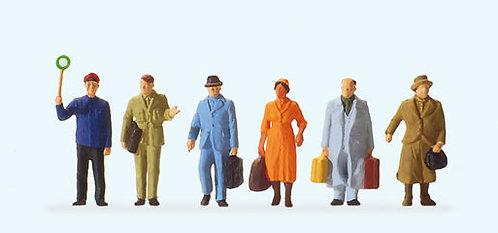 Preiser 14049 Figurines, voyageurs sur le quai HO