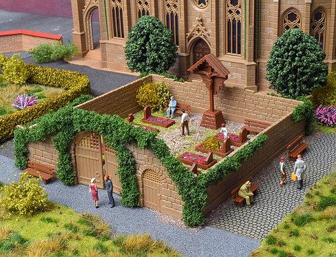 Set de décoration de cimetière HO - Vollmer 43861