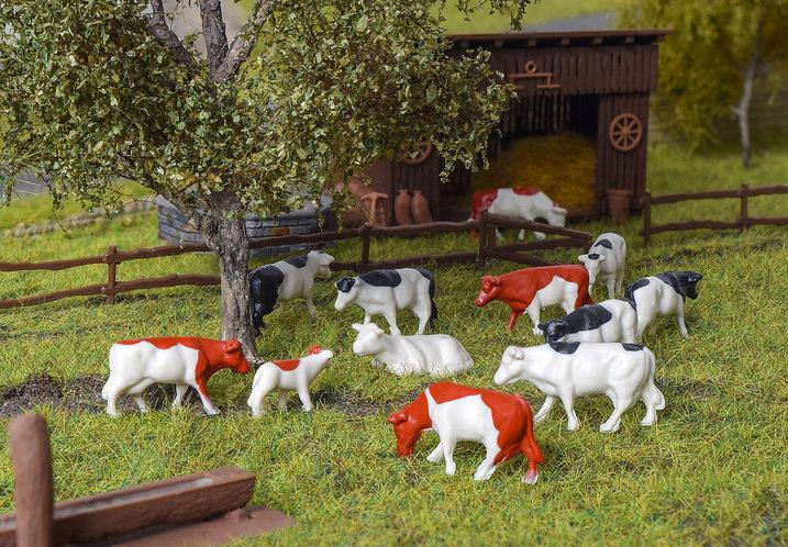 12 vaches H0 - Kibri 38152